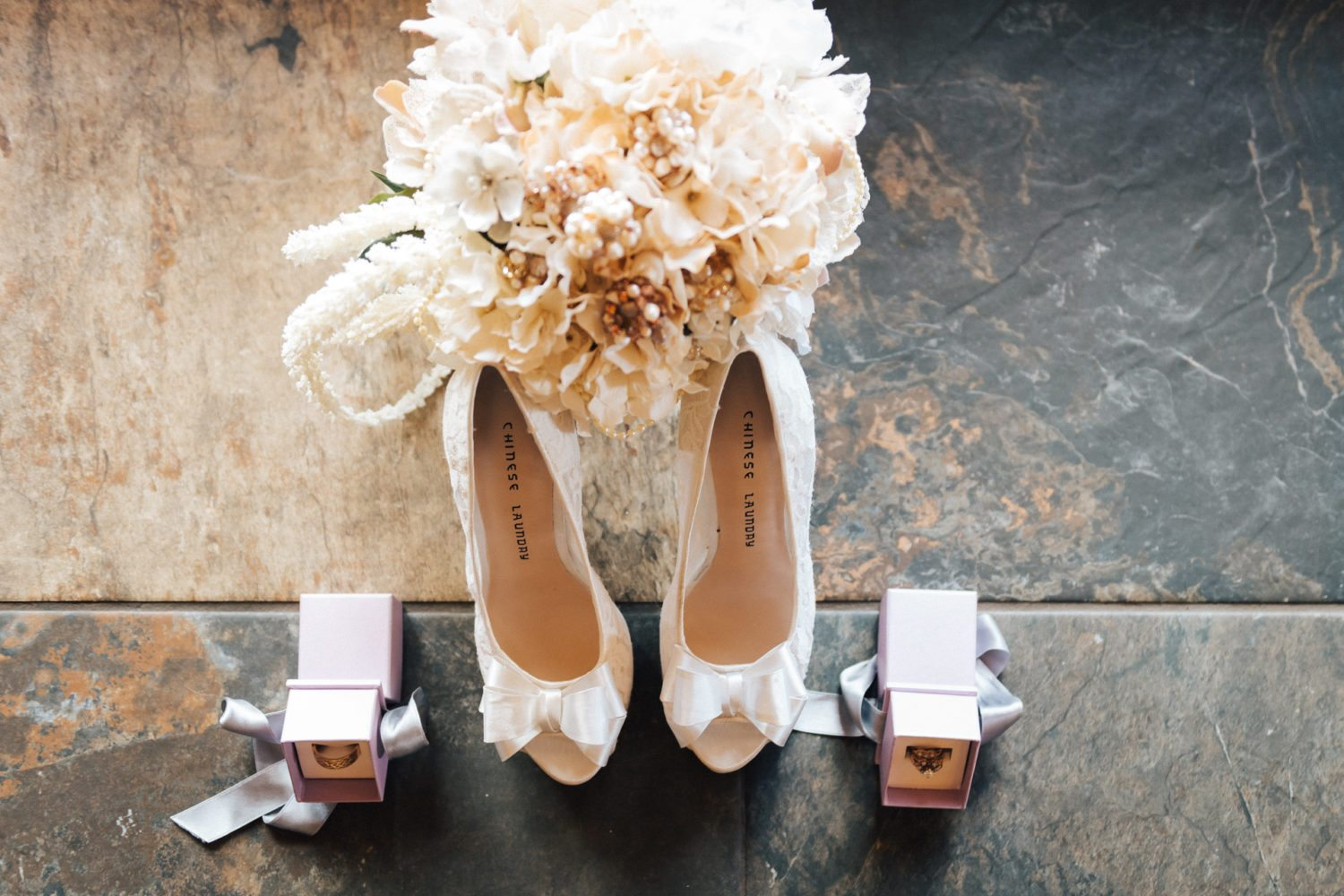 wedding details during bridal prep