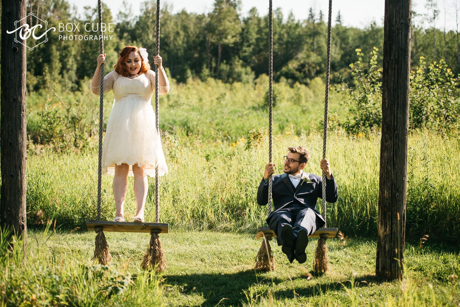 edmonton wedding photo swings photo