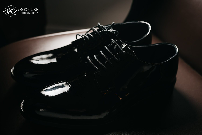 Shoe Detail Shot at Wedding Hotel Fairmont Macdonald