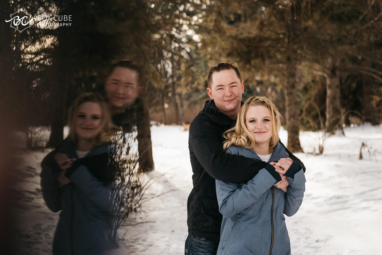 Engagement Photos at William Hawerlak Park by Box Cube Photography with Prism Effect