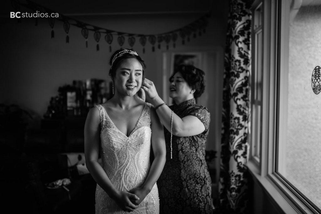 wedding at edmonton oilfield technical society. bride getting ready. bride's portrait